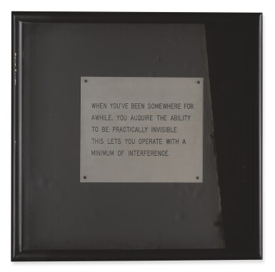 JENNY HOLZER | UNTITLED (THE LIVING SERIES)