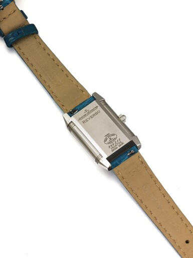 View 3. Thumbnail of Lot 65. JAEGER-LECOULTRE   REVERSO DUETTO REF 266.8.11 A LADY'S STAINLESS STEEL AND DIAMOND SET REVERSIBLE RECTANGULAR WRISTWATCH WITH MOTHER OF PEARL DIAL CIRCA 2005.