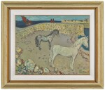 GERARD DILLON | HORSES AT THE HARBOUR WALL