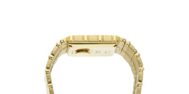 View 4. Thumbnail of Lot 30. Reference 7131 C 701 Polo  A yellow gold square shaped bracelet watch, Circa 1985 .