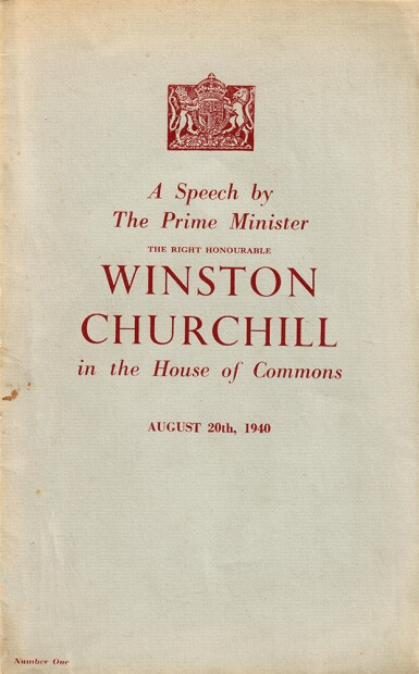 """View 1. Thumbnail of Lot 52.  Winston S. Churchill 