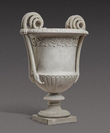 View 2. Thumbnail of Lot 168. An Italian neoclassical carved marble vase, Rome, late 18th century/early 19th century.