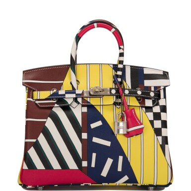 """View 1. Thumbnail of Lot 3. Hermès """"One Two Three and Away We Go"""" Limited Edition Birkin 25cm Palladium Hardware."""