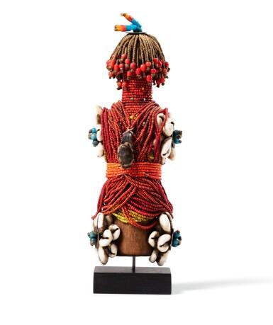 View 3. Thumbnail of Lot 35. Cinq poupées, Fali, Cameroun | Five Fali dolls, Cameroun.