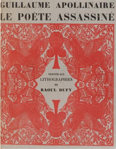 View 3. Thumbnail of Lot 127. Le Poète assassiné. 1926. Belle reliure de Paul Bonet. Ex sur Japon, avec 2 suites..