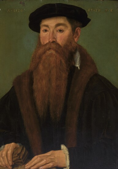 View 1. Thumbnail of Lot 93. MASTER OF THE 1540S | Portrait of a man.