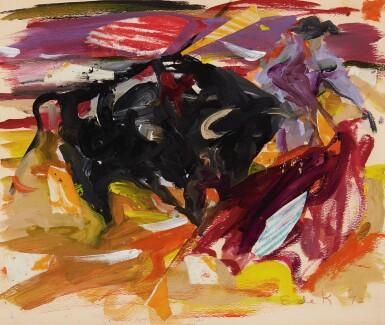 View 1. Thumbnail of Lot 29. Matador and Bull.