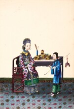 Album of Chinese watercolours by Youqua