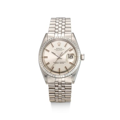 View 1. Thumbnail of Lot 8033. ROLEX | DATEJUST, REFERENCE 1603 | A STAINLESS STEEL WRISTWATCH WITH DATE AND BRACELET, CIRCA 1971 | 勞力士 | Datejust 型號1603 精鋼鏈帶腕錶,備日期顯示,約1971年製.
