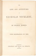 Charles Dickens | Nicholas Nickleby, 1839, first edition, presentation copy with letter to Lady Holland
