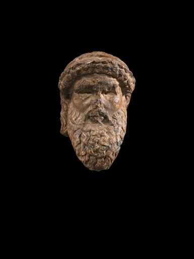 View 1. Thumbnail of Lot 99. A Roman Giallo Antico Marble Herm Head of Hermes, circa 1st Century A.D..
