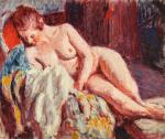 RODERIC O'CONOR | NUDE RECLINING IN AN ARMCHAIR