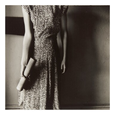 FRANCESCA WOODMAN   'FIGURE WITH MARBLE COLUMN' (MACDOWELL COLONY, PETERBOROUGH, NEW HAMPSHIRE)