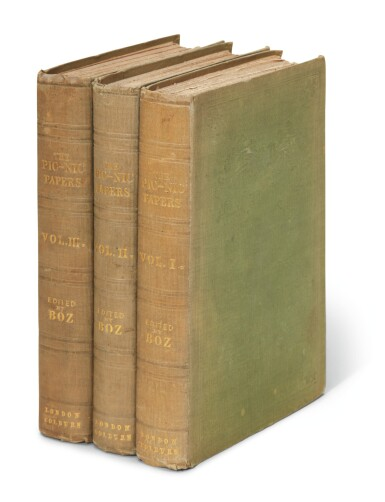 Dickens, The Pic Nic Papers, by various hands, 1841, first edition, bibliographer's copy
