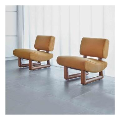 """View 1. Thumbnail of Lot 397. Pair of """"Visiteurs du Soir"""" Chairs."""