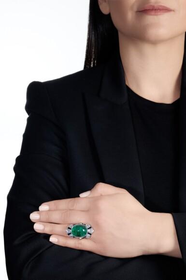 View 4. Thumbnail of Lot 609. Henri Picq | Emerald and gem set and diamond ring, circa 1930 | Henri Picq | 祖母綠配寶石及鑽石戒指,年份約1930.