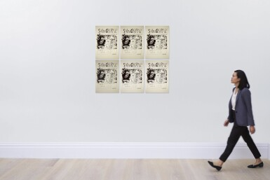 View 2. Thumbnail of Lot 138. PABLO PICASSO | SIX WORKS: AFFICHE BARCELONE, AVRIL 1961 - TROIS BUVEURS (B. 1294; M. 340).