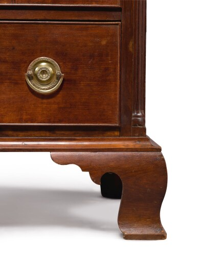 View 2. Thumbnail of Lot 1073. VERY FINE AND RARE DIMINUTIVE CHIPPENDALE CHERRYWOOD CHEST OF DRAWERS, CONNECTICUT, CIRCA 1795.