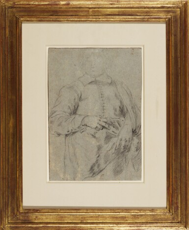 View 2. Thumbnail of Lot 570. ATTRIBUTED TO SIR ANTHONY VAN DYCK | Study for a Portrait of a Standing Man.