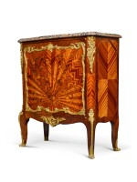 A LOUIS XV STYLE GILT-BRONZE MOUNTED MARQUETRY SIDE CABINET, BY FRANÇOIS LINKE, CIRCA 1900