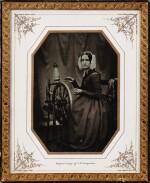 JOHAN WILHELM BERGSTRÖM | PORTRAIT OF THE PHOTOGRAPHERS WIFE AT THE SPINNING WHEEL, 1844-1852