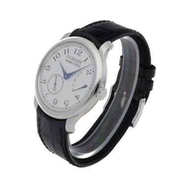 View 2. Thumbnail of Lot 43. Chronomètre Souverain Platinum wristwatch with power reserve indication Circa 2020   F.P. Journe「Chronomètre Souverain」鉑金腕錶備動力儲存顯示,年份約2020.