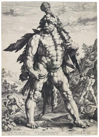 HENDRICK GOLTZIUS  |  THE LARGE HERCULES (BARTSCH 142; HOLLSTEIN 143; STRAUSS 283; NEW HOLLSTEIN 156)