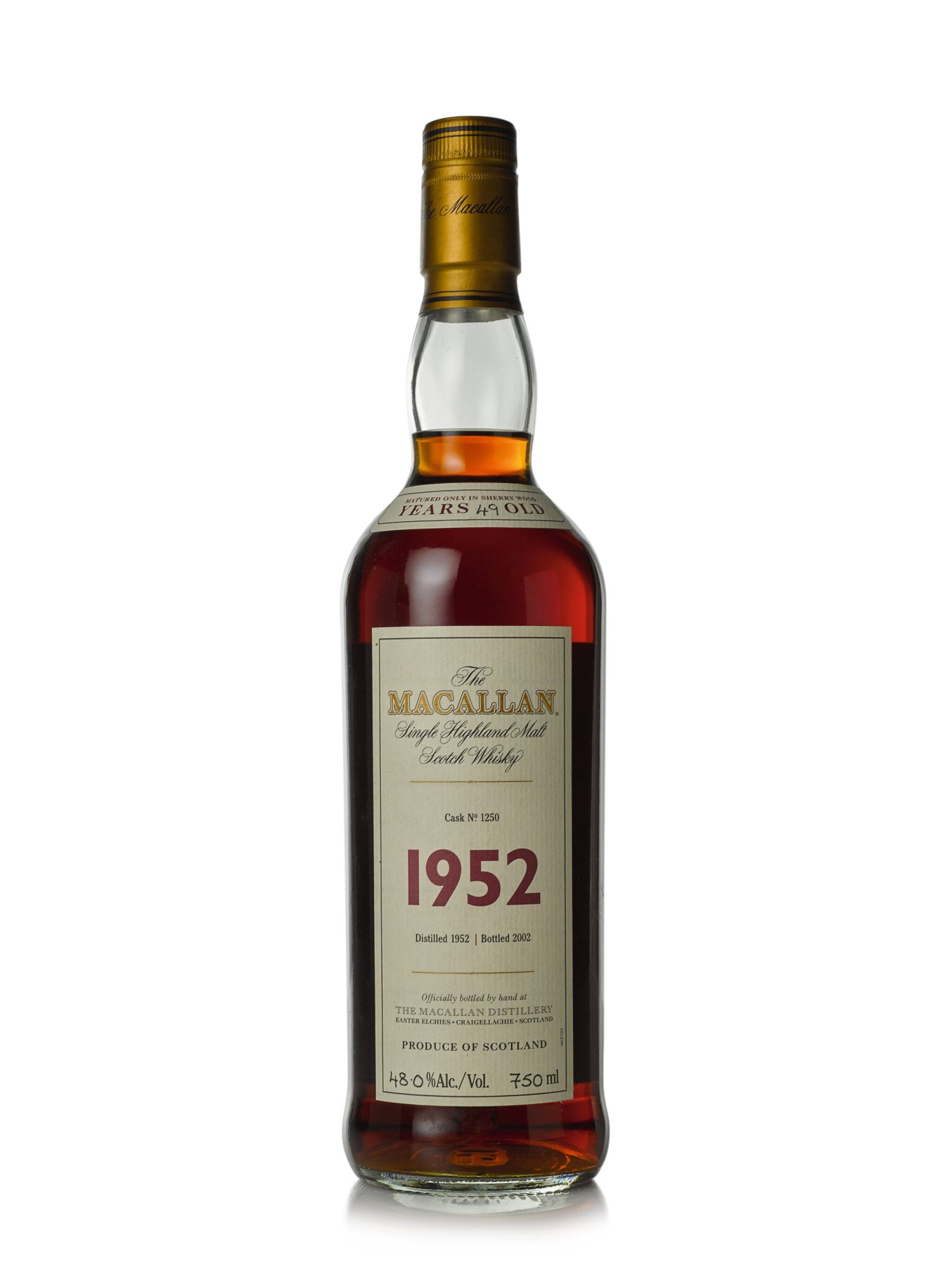 View full screen - View 1 of Lot 16.  The Macallan Fine & Rare 49 Year Old 48.0 abv 1952 (1 BT75cl).
