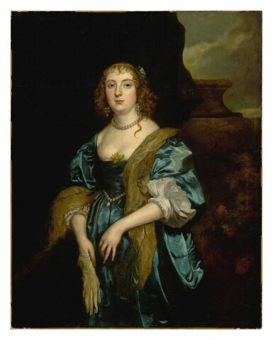 View 2. Thumbnail of Lot 31. Portrait of Anne Russell (née Carr), Countess of Bedford (1615 - 1684), three-quarter length.