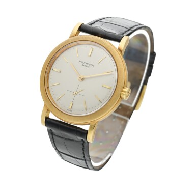 View 2. Thumbnail of Lot 228. Reference 3473  A yellow gold automatic wristwatch, Made in 1962.