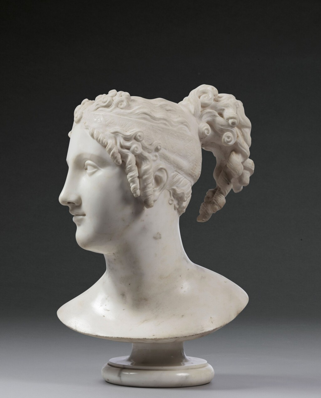 AFTER ANTONIO CANOVA (1757-1822) | BUST OF TERPSICHORE LYRAN (MUSE OF LYRIC POETRY)