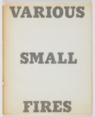 ED RUSCHA   VARIOUS SMALL FIRES; NINE SWIMMING POOLS; A FEW PALM TREES; AND COLORED PEOPLE (ENGBERG B2, B8, B13, B16)