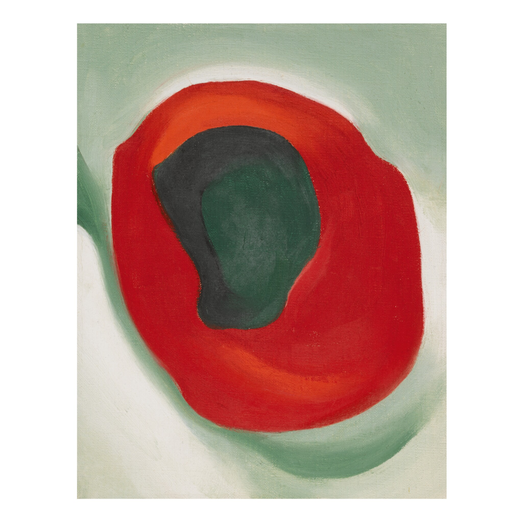 View full screen - View 1 of Lot 38. GEORGIA O'KEEFFE    UNTITLED (ALLIGATOR PEAR IN RED DISH).