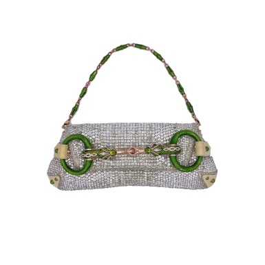 View 1. Thumbnail of Lot 707. GUCCI   TOM FORD SERPENT HEAD CLUTCH BAG IN LIZARD WITH SWAROVSKI CRYSTALS.