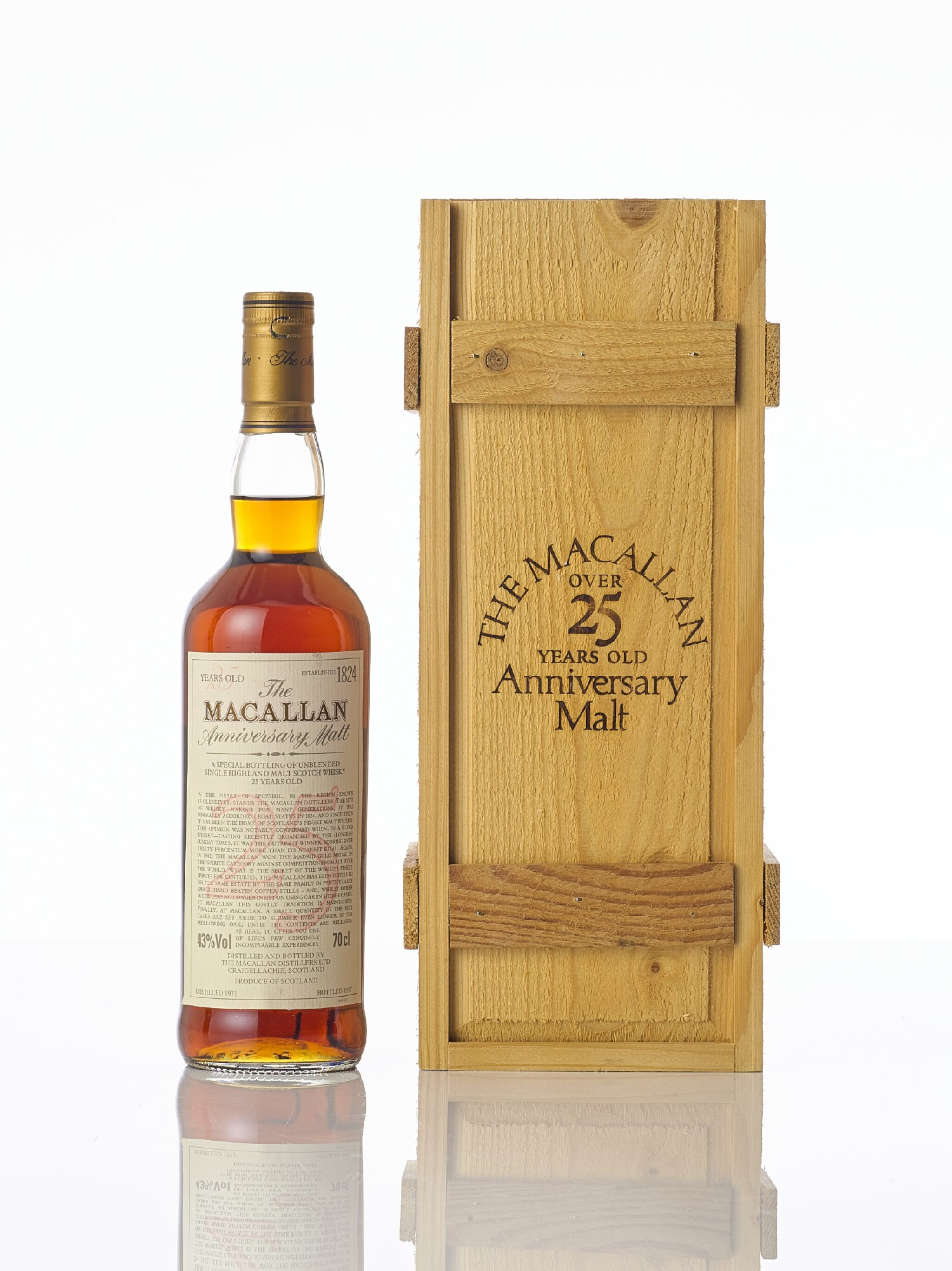 View full screen - View 1 of Lot 5442. The Macallan 25 Year Old Anniversary Malt 43.0 abv 1971 (1 BT70).