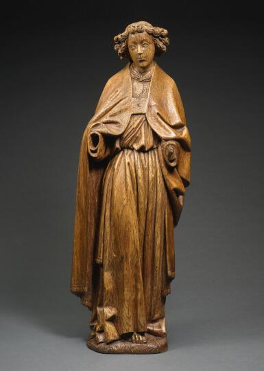ATTRIBUTED TO JAN BORMAN I (ACTIVE CIRCA 1460 - CIRCA 1502), SOUTHERN NETHERLANDISH, BRUSSELS, CIRCA 1480 | ANGEL OF THE ANNUNCIATION