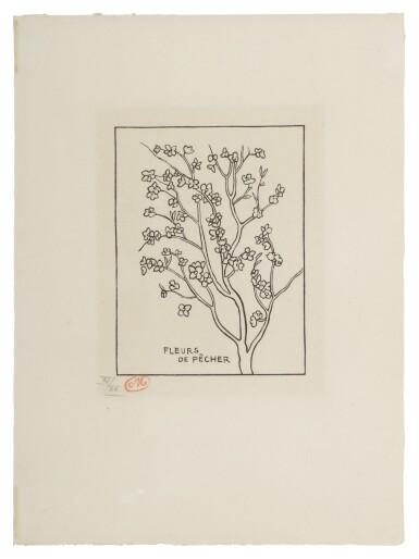 View 1. Thumbnail of Lot 105. Fleurs de pêcher (Guérin 171).