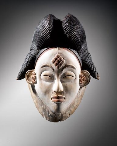 View 1. Thumbnail of Lot 41. Masque, Punu, Gabon | Punu mukuya mask.