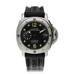 PAM 24 LUMINOR SUBMERSIBLE A LIMITED EDITION STAINLESS STEEL AUTOMATIC WRISTWATCH WITH DATE, CIRCA 2000
