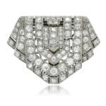 Diamond clip-brooch, 1920s