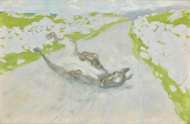 JACK BUTLER YEATS, R.H.A.   THE ROLLING DONKEY
