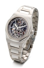 GIRARD-PERREGAUX  |  LAUREATO, REFERENCE 81015-11-001-11A  A STAINLESS STEEL SKELETONISED BRACELET WRISTWATCH, CIRCA 2017 | 芝柏 |