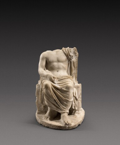 View 3. Thumbnail of Lot 65. A Roman Marble Figure of Zeus, circa 2nd Century A.D..