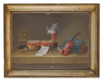ATTRIBUTED TO JOHANN RUDOLFF FEYERABEND, CALLED LELONG | A) STILL LIFE WITH MUSICAL INSTRUMENTS B) STILL LIFE WITH A BIRD CAGE