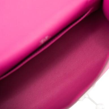 View 7. Thumbnail of Lot 15. Hermès Rose Pourpre Swift Mini Kelly Pochette.