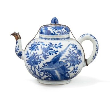 View 2. Thumbnail of Lot 283. A blue and white teapot and jar, China, Qing Dynasty, 18th-19th century.