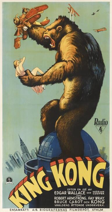 Lot 92 : King Kong (1933) poster, Swedish