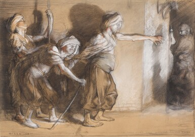 SIR WILLIAM ORPEN R.A., R.H.A. | THE THREE BLIND MEN WATCHED BY THE THIEF (ARABIAN NIGHTS)
