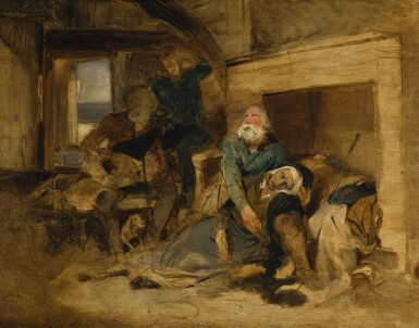 View 1. Thumbnail of Lot 172. SIR EDWIN HENRY LANDSEER, R.A. | Death of Elspeth Mucklebackit from Scott's The Antiquary.