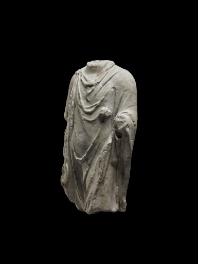 View 2. Thumbnail of Lot 77. A Roman Marble Torso of Hermanubis, circa 2nd Century A.D..